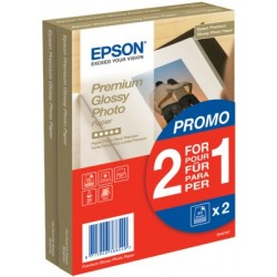 Epson - Premium Glossy Photo Paper - (2 for 1), 100 x 150 mm, 255g/m², 80 Sheets