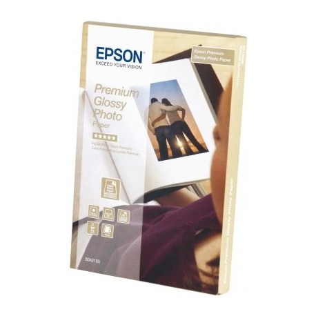 Epson - Premium Glossy Photo Paper, 100 x 150 mm, 255 g/m², 40 hojas