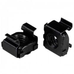StarTech.com - Paquete de 50 Tuercas Enjauladas M6 - Color Negro