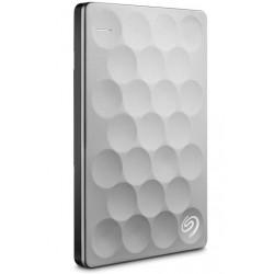 Seagate - Backup Plus Ultra Slim 2TB 2000GB Platino disco duro externo