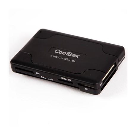CoolBox - CRE-065 USB 2.0 Negro lector de tarjeta