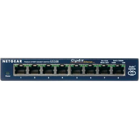 Netgear - ProSafe 8-Port Gigabit Desktop Switch Conmutador de red no administrado