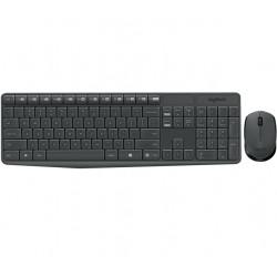 Logitech - MK235 teclado RF inalámbrico QWERTY Español Gris