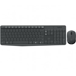 Logitech - MK235 teclado RF Wireless QWERTY Español Gris