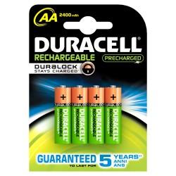 Duracell - 4xAA 2400mAh Batería recargable