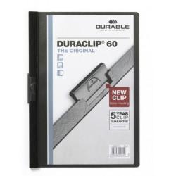 Durable - DURACLIP® 60 A4 PVC Negro archivador