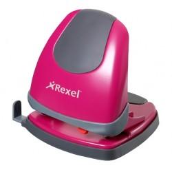 Rexel - Perforadora sin esfuerzo Easy Touch rosa
