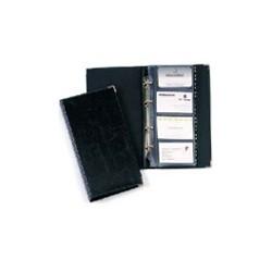 Durable - Business card album Visifix 200 Black fichero rotatorio