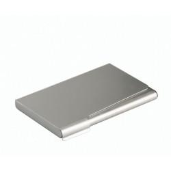 Durable - Business Card Box Aluminio Plata acollador de tarjeta
