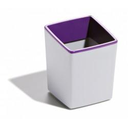 Durable - Varicolor De plástico, Caucho Gris, Lila porta lápices