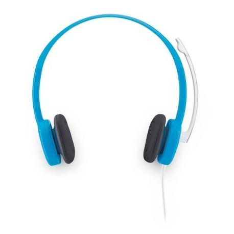 Logitech - H150 Binaurale Diadema Azul auricular con micrófono