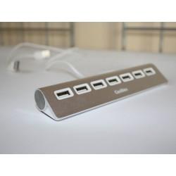 CoolBox - HUBCOO7ALU2 USB 2.0 480Mbit/s Plata nodo concentrador