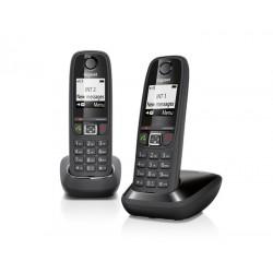 Gigaset - AS405 Duo Teléfono DECT Negro Identificador de llamadas