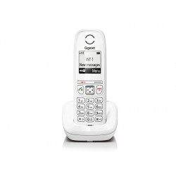 Gigaset - AS405 Teléfono DECT Blanco Identificador de llamadas