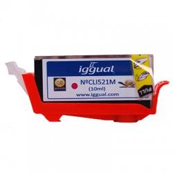 iggual - Cartucho Reciclado Canon CLI521M Magenta