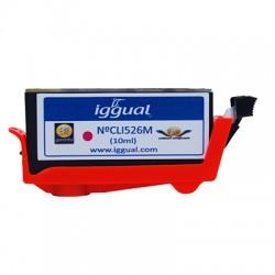 iggual - Cartucho Reciclado Canon CLI526M Magenta