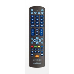 Meliconi - Pratico 6 IR inalámbrico Botones Negro mando a distancia