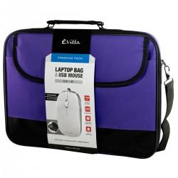 "e-Vitta - EVLB000302 maletines para portátil 40,6 cm (16"") Bandolera Negro, Púrpura"