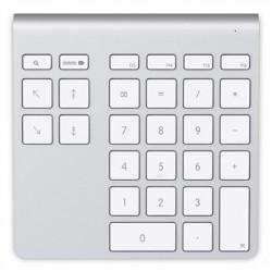 Belkin - YourType PC/servidor Bluetooth Aluminio, Color blanco teclado numérico