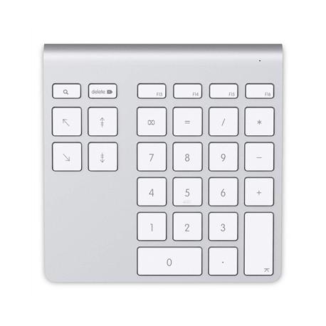Belkin - YourType PC/servidor Bluetooth Aluminio, Blanco teclado numérico