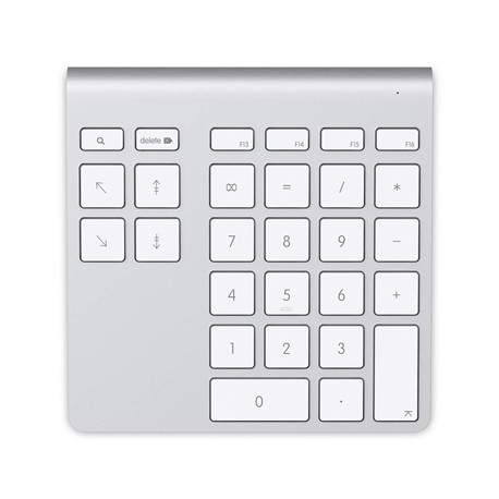 Belkin - YourType PC/servidor Bluetooth Aluminio, Color blanco teclado numérico