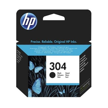 HP - 304 Black Original Standard Capacity Ink Cartridge