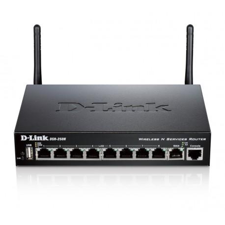 D-Link - DSR-250N Banda única (2,4 GHz) Gigabit Ethernet Negro router inalámbrico