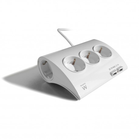 Ewent - EW3935 Interior 5AC outlet(s) 1.5m Color blanco base múltiple