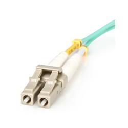 StarTech.com - Cable de Fibra Óptica LC a LC de 2m Dúplex Multimodo 50/125 LSZH de 10Gb - Aqua