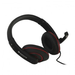 Woxter - i-Headphone PC 780 Negro, Rojo Supraaural auricular