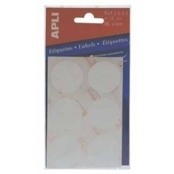 APLI - Circular labels 5 sheets 13 x 13mm Green