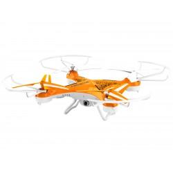 Brigmton - BDRON-400 4rotors 1280 x 720Pixeles 380mAh Naranja, Color blanco dron con cámara