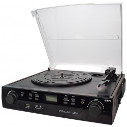 Brigmton - BTC-406REC Belt-drive audio turntable Negro tocadisco