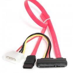iggual - IGG311837 cable de SATA Negro, Rosa SATA 7-pin + Molex (4-pin)