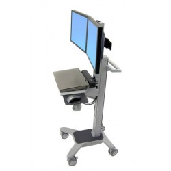 Ergotron - Neo-Flex Dual WideView WorkSpace Panel plano Multimedia cart Gris