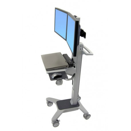 Ergotron - Neo-Flex Dual WideView WorkSpace Flat panel Multimedia cart Gris