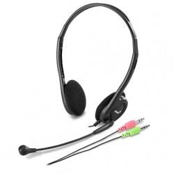 Genius - HS-M200C Binaural Diadema Negro, Gris auricular con micrófono