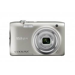"Nikon - COOLPIX A100, Case, Selfie stick Cámara compacta 20,1 MP CCD 5152 x 3864 Pixeles 1/2.3"" Plata"