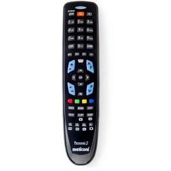 Meliconi - Gumbody Personal 2 IR inalámbrico Botones Negro mando a distancia