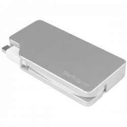 StarTech.com - Adaptador de Audio y Vídeo para Viajes: 3 en 1 - Conversor Mini DisplayPort a VGA, DVI, HDMI - 4K - de Aluminio