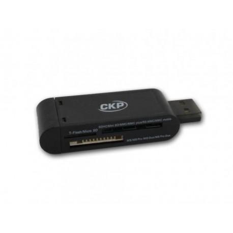 Cirkuit Planet - CKP CR2030 USB 2.0 Negro lector de tarjeta
