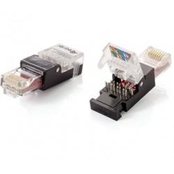 Equip - 121165 RJ-45 Negro, Transparente conector