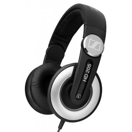 Sennheiser - HD 205 Negro, Plata Supraaural Diadema auricular