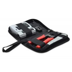 Digitus - DN-94022 kit de herramientas para preparación de cables Negro, Gris, Rojo