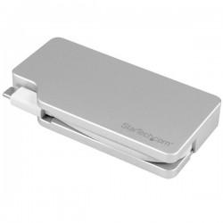 StarTech.com - Adaptador USB-C de Vídeo Multipuertos 4en1 - de Aluminio - 4K 30Hz - Plateado