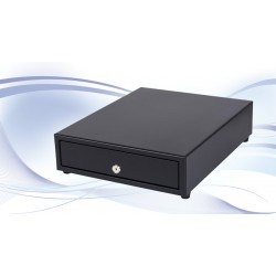 International Cash Drawer - SS-102 Acrilonitrilo butadieno estireno (ABS), Acero Negro