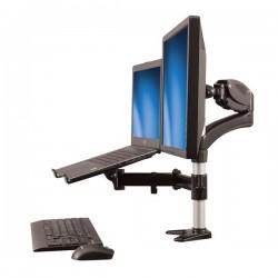 StarTech.com - Brazo para un Monitor - Base para Ordenador Portátil con Ajuste de Altura de un Toque