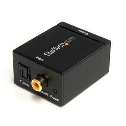 StarTech.com - Adaptador Conversor de Audio Digital Coaxial SPDIF o Toslink Óptico a RCA Estéreo Analógico