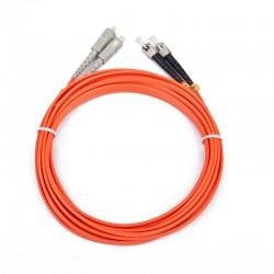 iggual - IGG311479 cable de fibra optica 5 m 2x ST 2x SC OM2 Naranja