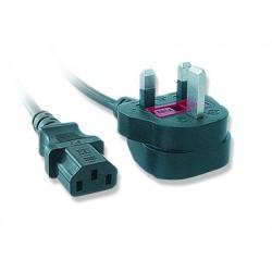 iggual - IGG311141 1.8m BS 1363 C13 acoplador Negro cable de transmisión